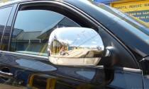 Хром накладки на зеркала Фольксваген Туарег 1 (хромированные накладки на боковые зеркала Volkswagen Touareg 1)