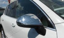 Хром накладки на зеркала Фольксваген Туарег 2 (хромированные накладки на боковые зеркала Volkswagen Touareg 2)