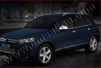 Хромированные молдинги стекол Фольксваген Туарег 2 (хром нижние молдинги стекол Volkswagen Touareg 2)
