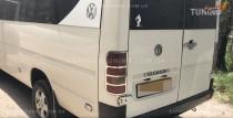 Хромированная окантовка на стопы Фольксваген ЛТ 35 (хром накладки на стопы Volkswagen LT 35)