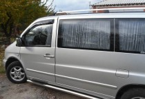 Шторки в Мерседес Вито 638 (автомобильные шторки для Mersedes Vi