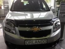 Дефлектор капота Шевроле Орландо (мухобойка на капот Chevrolet Orlando)
