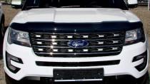 Мухобойка капота Ford Explorer 2016- (дефлектор на капот Форд Эксплорер 2016-)