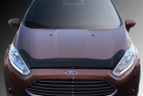 Мухобойка капота Форд Фиеста 2015- (дефлектор на капот Ford Fiesta 2015-)