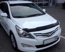мухобойка капота Hyundai Accent 4 2014-)