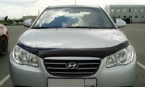 Мухобойка капота Хендай Элантра 4 HD (дефлектор на капот Hyundai Elantra 4 HD)