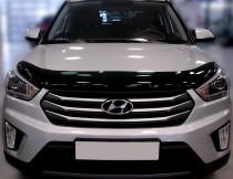 Мухобойка капота Хендай Крета (дефлектор на капот Hyundai Creta)