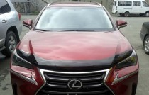 Мухобойка капота Лексус НХ с 2014- (дефлектор на капот Lexus NX)