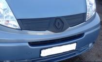 Зимняя заглушка на радиатор Рено Трафик 2 рестайл (накладка решетки радиатора Renault Trafic 2)
