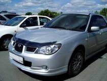 Мухобойка капота Субару Импреза 3 (дефлектор на капот Subaru Impreza 3)