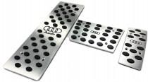 Накладки на педали Audi A8 D3 с АКПП (алюминиевые накладки для Ауди А8 Д3)