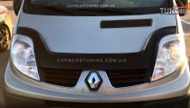 Дефлектор капота Рено Трафик 2 (мухобойка Renault Trafic 2)