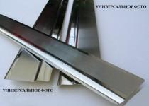 Накладки на пороги Митсубиси Паджеро Спорт 3 (защитные накладки Mitsubishi Pajero Sport 3)