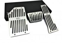 Накладки на педали Kia Sorento 3 (стальные накладки педалей Киа Соренто 3)