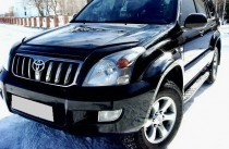 Дефлектор капота Тойота Ленд Крузер Прадо 120 (мухобойка Toyota Land Cruiser Prado 120)