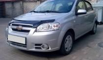 Мухобойка Шевроле Авео 3 (дефлектор капота Chevrolet Aveo 3)
