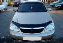 Дефлектор на капот Chevrolet Lacetti sedan (мухобойка Шевроле Лачетти седан)