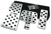 JTEC Накладки на педали Тойота Хайлендер 3 АКПП (накладки педалей Toyota Highlander 3)