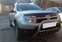купить Дефлектор капота Рено Дастер (мухобойка Renault Duster)