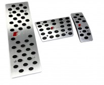 Пластины на педали Шкода Рапид АКПП (алюминиевые пластинки педалей Skoda Rapid)