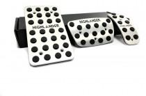 Пластины на педали для Toyota Highlander 1 автомат (оригинальные пластинки педалей в Тойота Хайлендер 1)