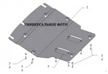 Защита картера Киа Церато 2 Купе увеличенная (защита двигателя Kia Cerato 2 Koupe)