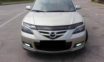 Дефлектор капота Мазда 3 BK седан (мухобойка Mazda 3 BK)
