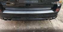 Накладка на задний бампер Тойота Прадо 120 (защитная накладка бампера Toyota Prado 120)
