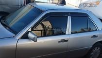 Дефлекторы окон Мерседес W124 (ветровики Mercedes W124)