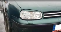 Реснички на фары Фольксваген Гольф 4 (накладки на передние фары Volkswagen Golf 4)