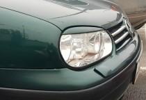 Реснички на передние фары Volkswagen Golf 4 (установка накладок
