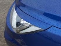 Верхние пластиковые накладки на фары Hyundai Solaris (реснички)