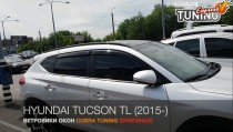 Ветровики Хендай Туксон 3 ТЛ (дефлекторы окон Hyundai Tucson 3 TL)