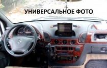 Накладки на панель Шевроле Авео Т250 под дерево (декор салона Chevrolet Aveo T250)