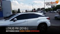Ветровики Лексус РХ 4 (дефлекторы окон Lexus RX450)