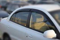 Ветровики Киа Рио 1 седан (дефлекторы окон Kia Rio 1 sedan)
