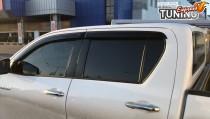Ветровики Тойота Хайлюкс 8 (дефлекторы окон Toyota Hilux 8 5D)