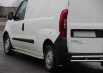 Пороги труба с листом Фиат Добло 2 (пороги площадкой Fiat Doblo 2)
