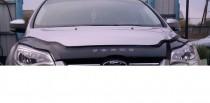 Дефлектор капота Форд Фокус 3 (мухобойка на капот Ford Focus 3)