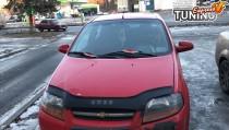 Мухобойка капота Шевроле Авео Т200 (дефлектор на капот Chevrolet Aveo T200)