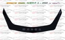 Дефлектор на капот Мазда 3 BL (мухобойка капота Mazda 3 BL)