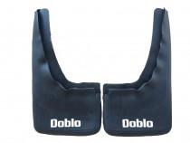 Задние брызговики Фиат Добло 1 (комплект 2 шт с надписью)