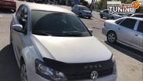 Мухобойка на капот Volkswagen Polo 5 (дорестайлинг)