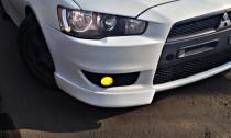 клыки переднего бампера Mitsubishi Lancer X