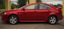 Купить пороги на Mitsubishi Lancer X (фото порогов Митсубиси Лан