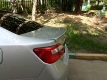 Лип спойлер на Toyota Camry V50 (задний спойлер Тойота Камри 50)