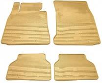 Бежевые коврики салона Bmw 1 E81 комплект Premium