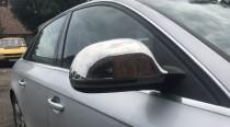Хромированные накладки на зеркала Audi A6 C6 метал