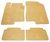 Бежевые коврики на Hyundai Sonata NF дизайн премиум