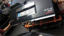 Хромированная кромка багажника Додж Нитро